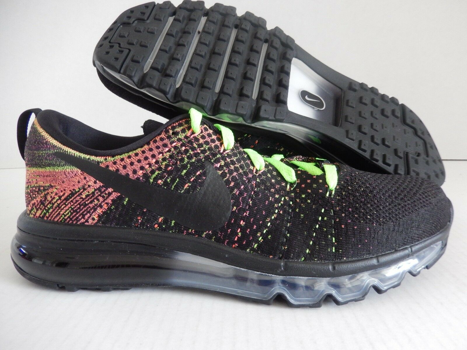Para hombre NIKE FLYKNIT MAX ID MARK PARKER HTM  multi Color  Volt [874783-991]