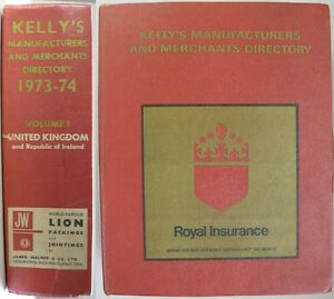 1973-KELLY-039-S-ENGLISH-DIRECTORY-MANUFACTURERS-MERCHANTS-AND-INDUSTRIAL-SERVICES