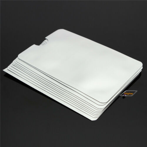 3x RFID Blocking Sleeve Credit Card Protector Bank Card Holder for Wallets