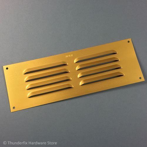 "Air Louvre Ventilation Grille 9/"" x 3/"" Gold Brass Annodised Aluminium"