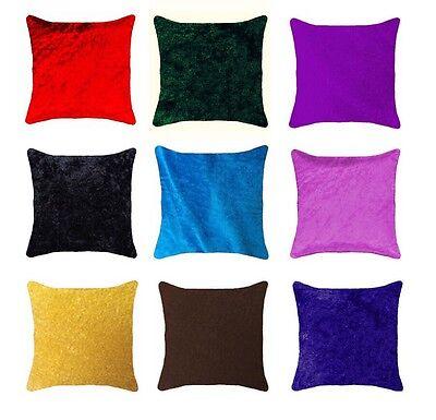 Large Plain Soft Velvet Design Cushion Covers Modern Pillow Case Home Sofa