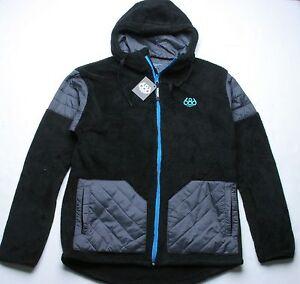 Hoodie 686 Zip l Noir Sherpa E7q76