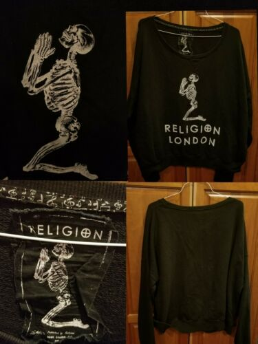 RELIGION LONDON Long Sleeve Over Sized Sweater Pra