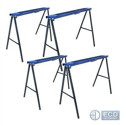 4 PIECES 250kg SAW HORSES WORK STANDS FOLDING TELESCOPIC WOOD WORKING NON SLIP