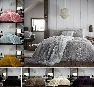 New Hug Snug Teddy Fleece Fluffy Duvet Cover Set Cosy Warm Soft Bed Set A Size Ebay