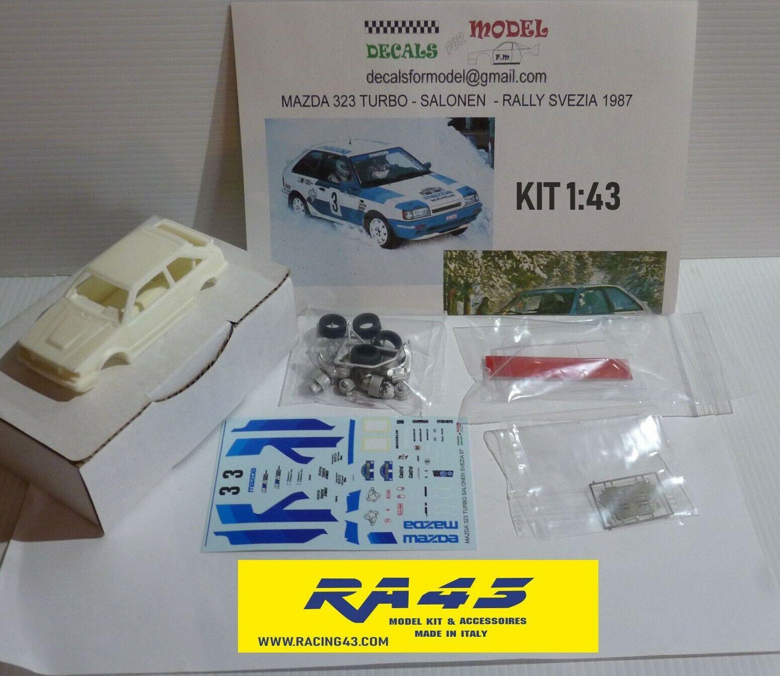 1 43 Mazda 323 Turbo Rally Svezia 1987 Salonen Kit