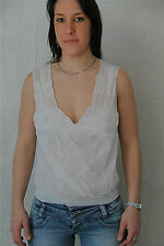 MARITHÉ FRANCOIS GIRBAUD top bustier tricot blanc TAILLE 40 * NEUF ÉTIQUETTE *