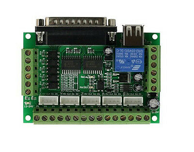 1pcs 5 Axis CNC Breakout Board For Stepper Driver Controller mach3