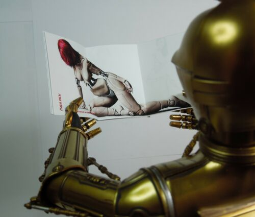 1//6 Scale Custom Playboy Style Star Wars playdroid Magazine-No Pages Vierges