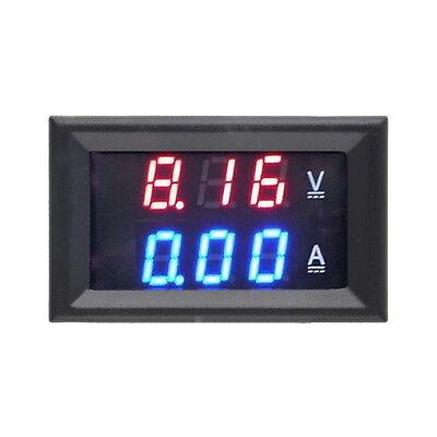 DC 100V 10A Voltmeter Ammeter Blue + Red LED Amp Dual Digital Volt Meter Gauge S