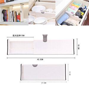 drawer dividers white spring loaded expandable kitchen bedroom organizer bk ebay. Black Bedroom Furniture Sets. Home Design Ideas