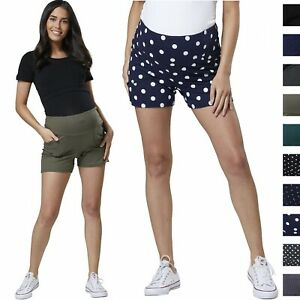 16aab3fd34022 Image is loading HAPPY-MAMA-Women-039-s-Maternity-Overbump-Shorts-