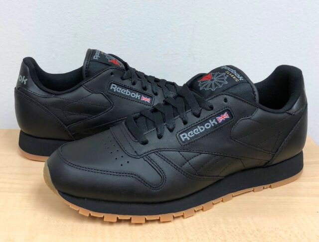 MENS REEBOK CLASSIC CL LTHR BlackGum 49798 ATHLETIC RUNNING