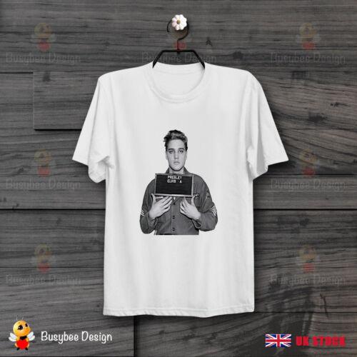 Elvis Presley format à la française Cool Cadeau Idéal Rétro Vintage Unisexe T Shirt B236