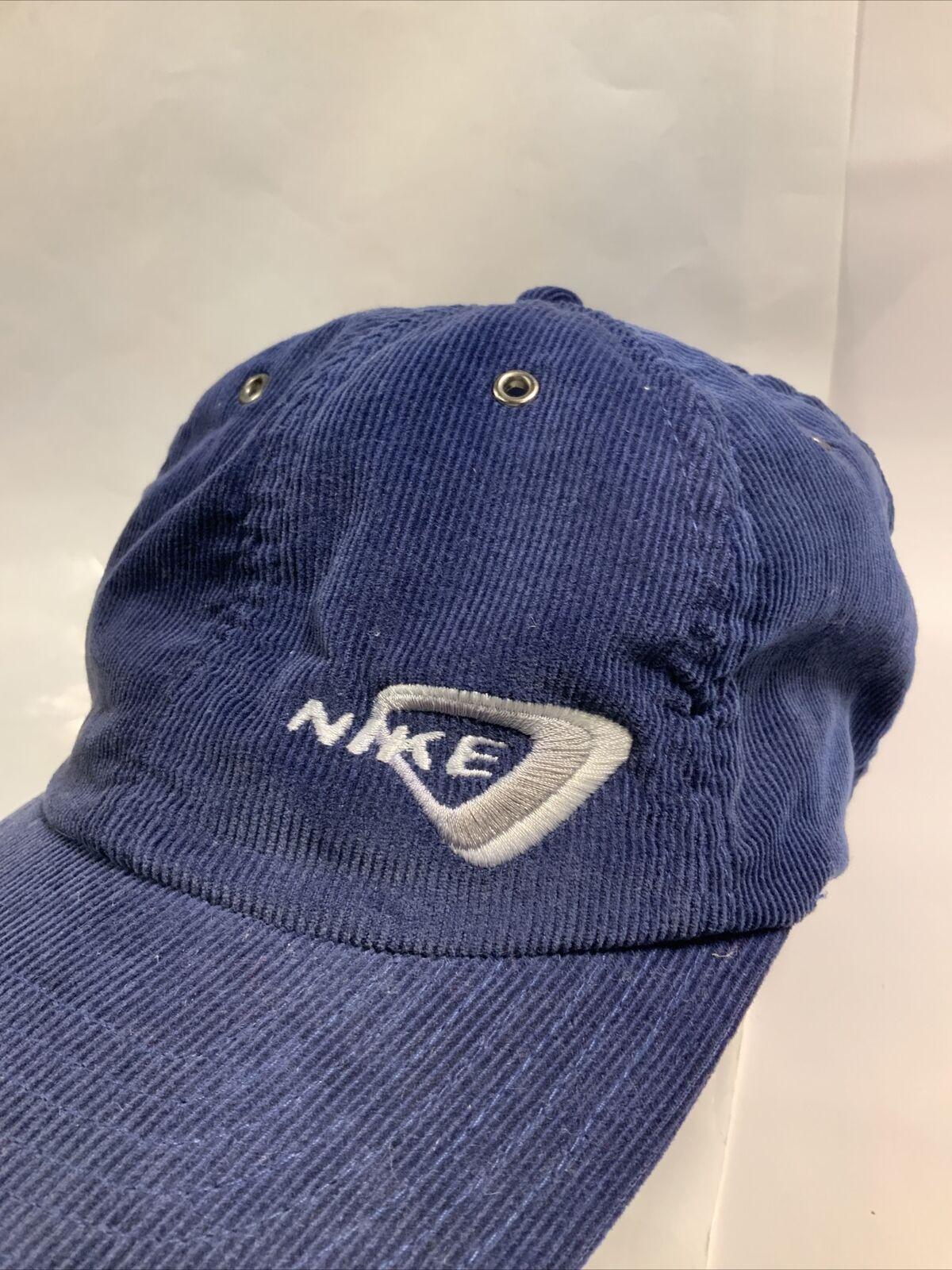 Vintage Nike Hat Corduroy 80s - 90'S Blue AUTHENT… - image 2