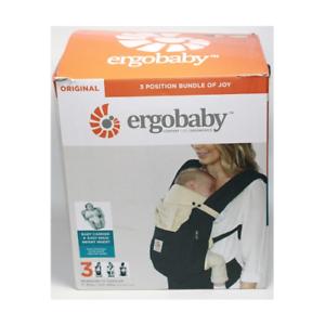 SHELF-DEMO-Ergobaby-Bundle-Of-Joy-Easy-Snug-Infant-Insert-Black-amp-Camel-Free-S-H