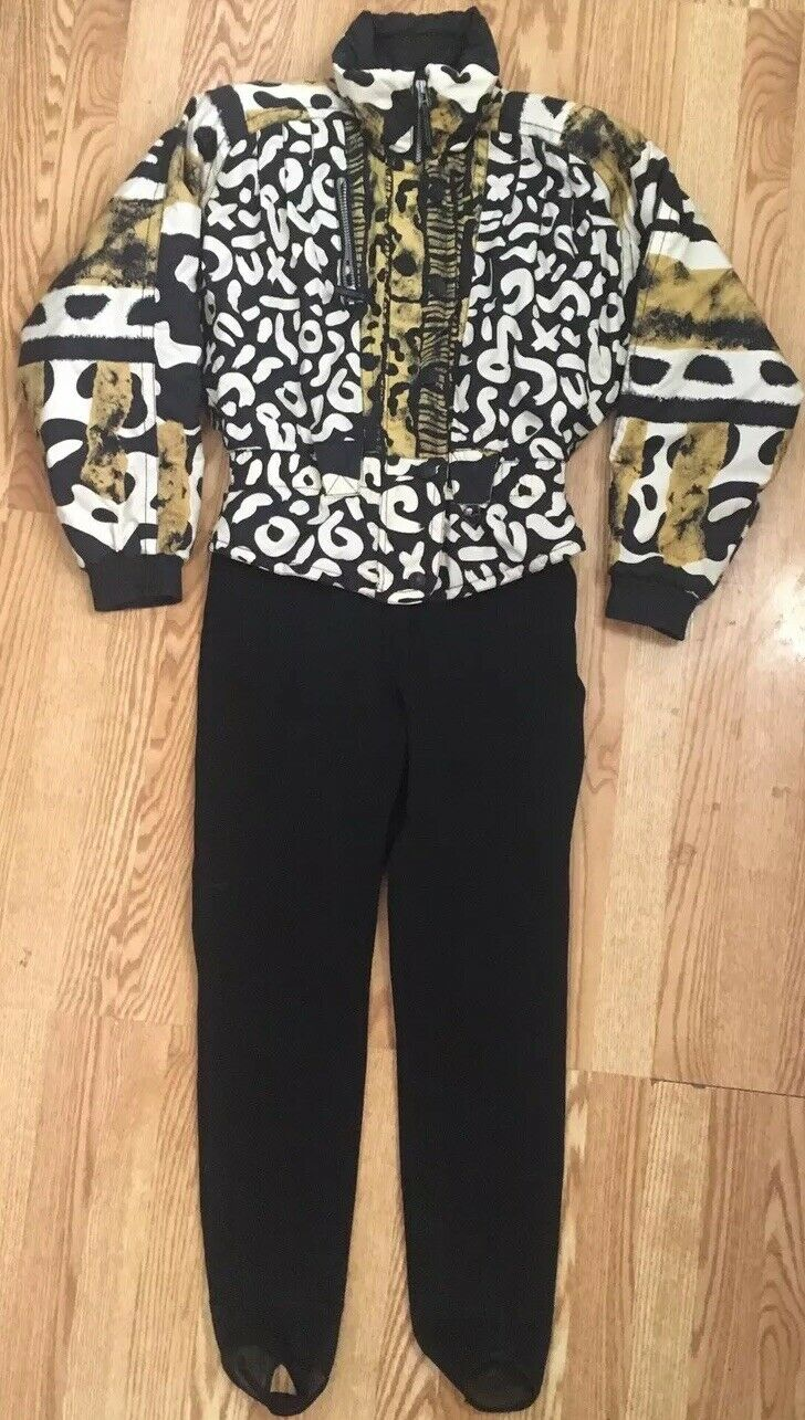 RARE Obermeyer Vintage 80s Multi-color Abstract  One Piece Ski Suit Women's S M  sell like hot cakes