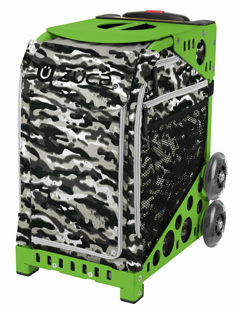 ZUCA Nu Camo Camouflage Insert Bag & Green Frame w  Flashing Wheels-FREE CUSHION  hot sale online