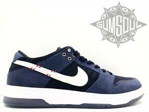 5667e7a51e96 NIKE SB ZOOM DUNK LOW ELITE QS SEAN MALTO MIDNIGHT NAVY WHITE 877063 ...