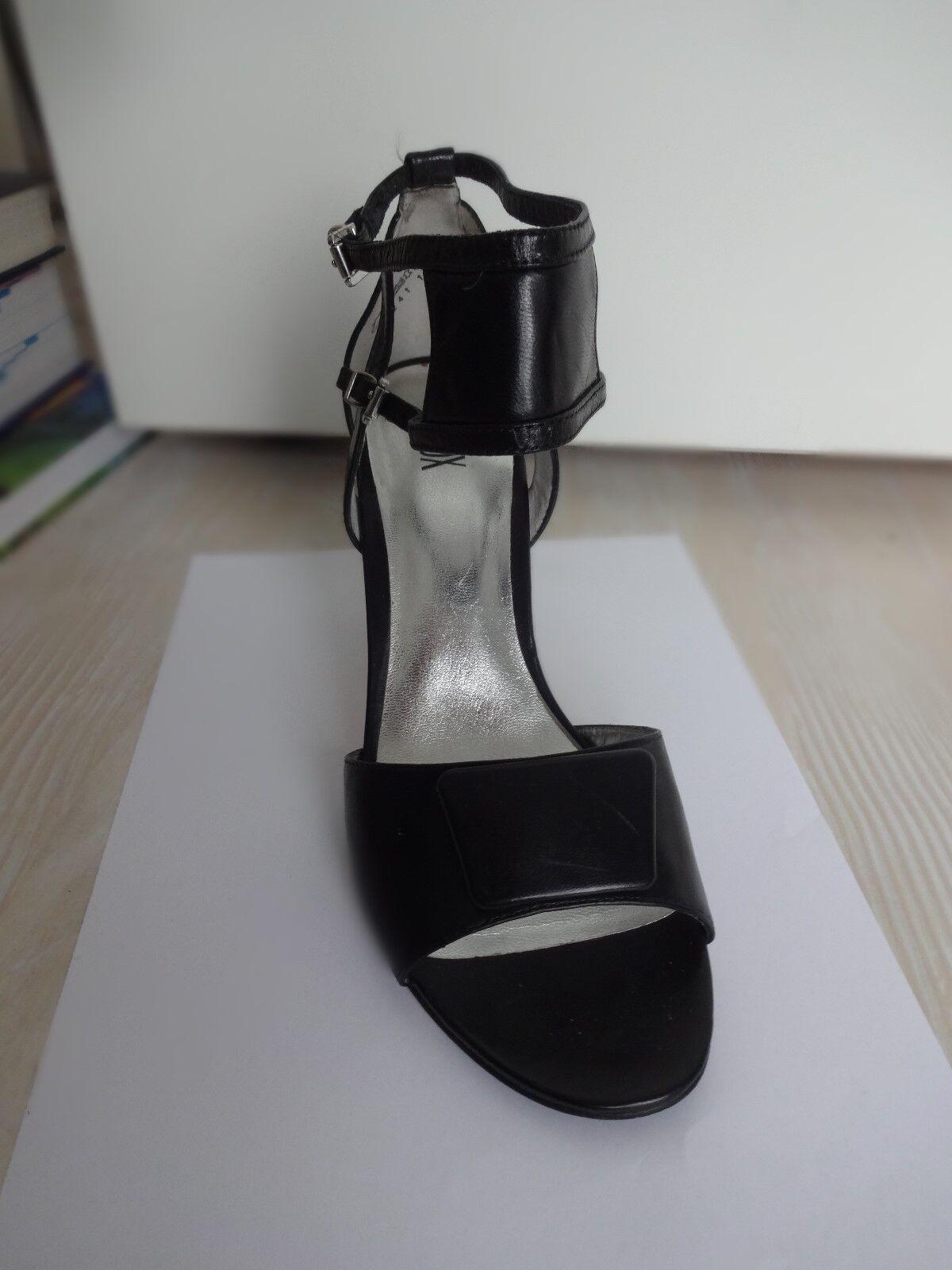 OXMOX Sandale Sandalette Gr. 39 Leder schwarz neuwertig
