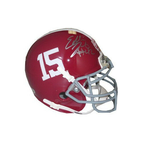 Eddie Lacy signed Alabama Crimson Tide BCS Logo #15 Schutt Mini Helmet Lacy Holo