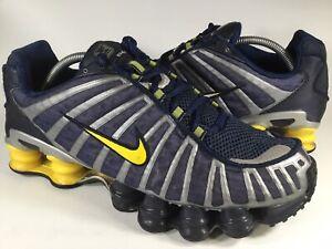 Détails sur Nike Shox TL bleu marine argent jaune 2003 pour homme Taille 10 RARE 305463 471 vintage afficher le titre d'origine