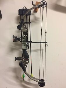 Details about Fred Bear Buckmasters Camo Hunting Compound Bow Package 50-60#