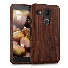 Kwmobile madera funda protectora para Lg Google Nexus 5x rosas madera naturaleza marrón oscuro