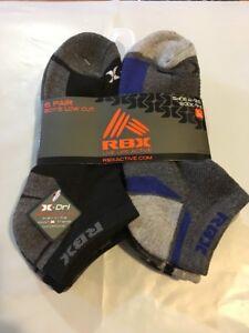 Puma Boys Low Cut Socks Black//Gray Shoe Size 5.5-11.5