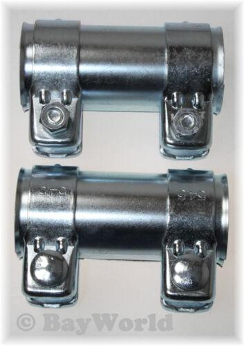 2x Auspuff Universal Rohrverbinder 52x56,5x125mm Doppelschelle Opel BMW 52x125