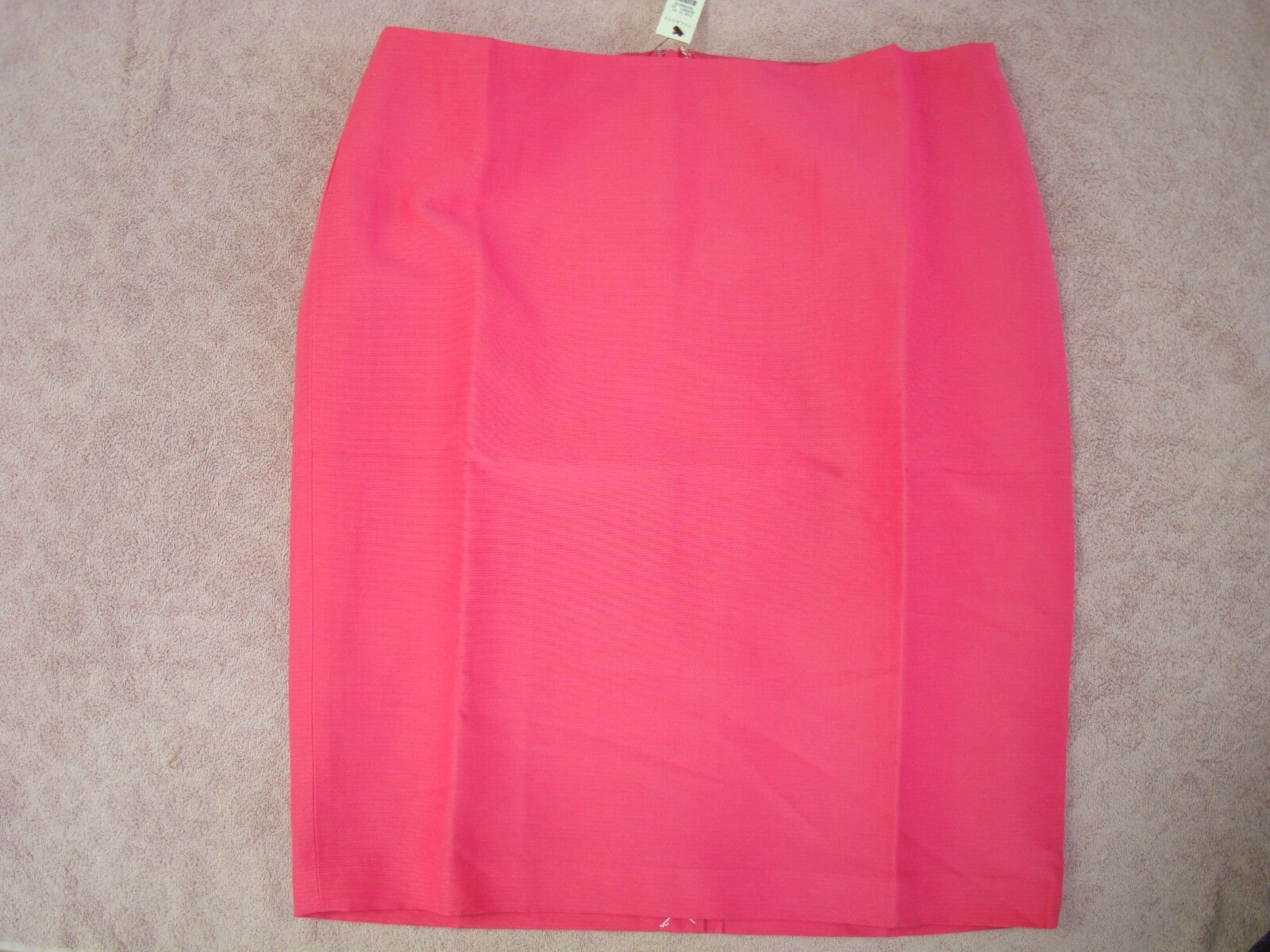 TALBOTS NWT  119  FAILLE FULLY LINED COTTON SILK PEONY PINK PENCIL SKIRT SIZE 16
