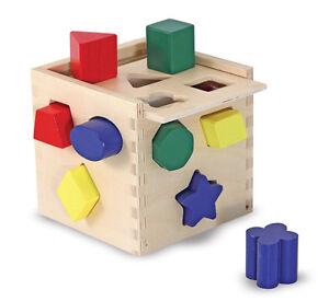 melissa amp doug legno steckw252rfel cubo 12 forme in legno