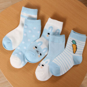 KQ-5-Pairs-Baby-Summer-Cartoon-Cotton-Mesh-Breathable-Middle-Tube-Socks-Charm