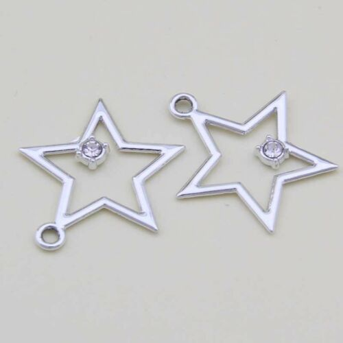 Blanco K Star Colgante Accesorios pendiente hacer ninguna descoloración B1199