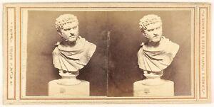 Museo-Da-Napoli-Italia-Foto-Stereo-PL48L3n2-Vintage-Albumina-c1865