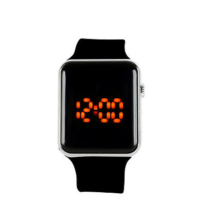 Silicone LED Men Womens Sport Watch Touch Digital Bracelet Wrist Watches Unisex
