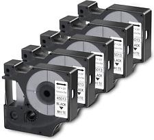Filery 5 Pack Label Maker Tape For Dymo D1 Labels Tape 45013 S0720530 Refill On