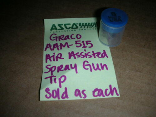 1-Pc. New! Graco AAM513 Air Assisted Spray Tip for G15 and G40 Spray Guns