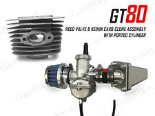 GT80 Reed Valve & Keihin Carburetor Clone Assembly with Ported Cylinder 66/80cc
