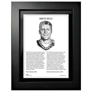 """Brett Hull St. Louis Blues HHOF Legends Photo (Size: 14"""" x 18"""") Framed"""