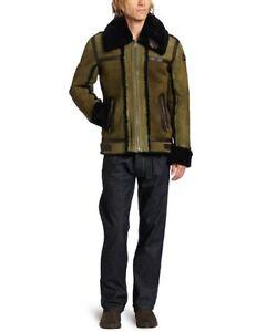 DIESEL LENCANG Man Leather Sheepskin Jacket Coat Size L New | eBay
