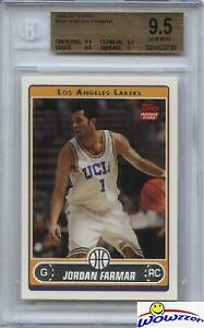 2006-07-Topps-245-Jordan-Farmar-Rookie-BGS-9-5-GEM-MINT