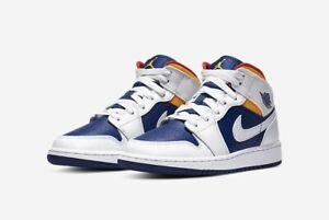 Dettagli su Nike Air Jordan 1 Mid GS Laser Orange Deep 554725 131 chicago red rosso 39EUR