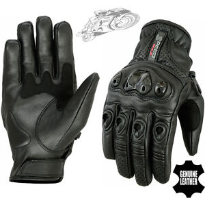 MENS-VENTED-CARBON-SHELL-KNUCKLE-PERFORATED-MOTORBIKE-MOTORCYCLE-LEATHER-GLOVES