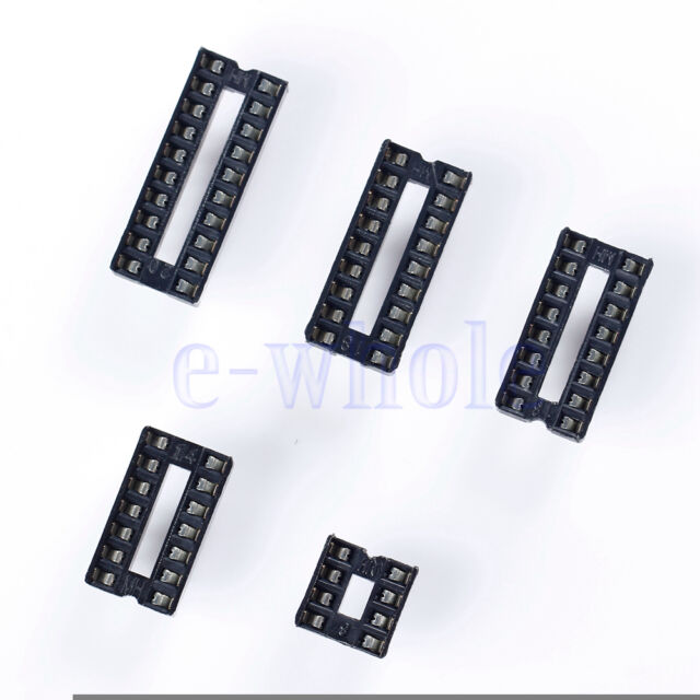 10Pcs Each 8 14 16 18 20 Pin Dip Socket Adaptor Solder Type Socket ic
