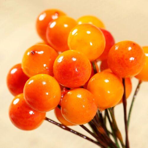 50//100pcs Artificial Berries Flower Stamen Home Gift Wedding Decor DIY Craft hi