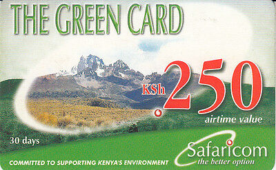 Sitio Web Oficial Kenya The Green Card Ksh250 Safaricom Exp. 30/09/2004
