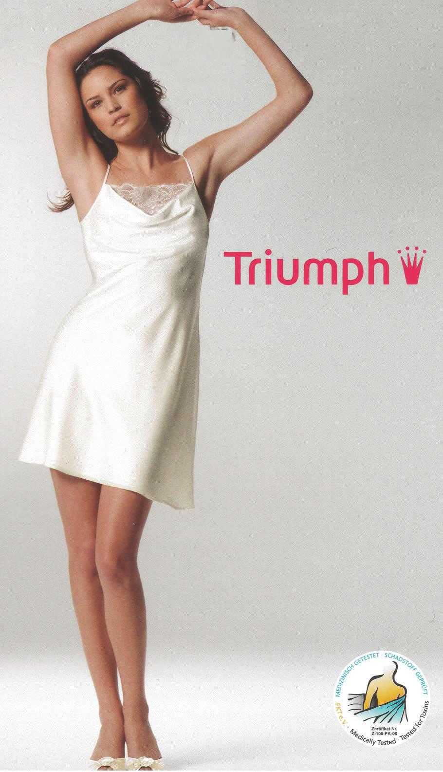 Triumph SATIN TEMPTATION NDW   Nachthemd  38 40 42 44   vanille   havanna  NEU