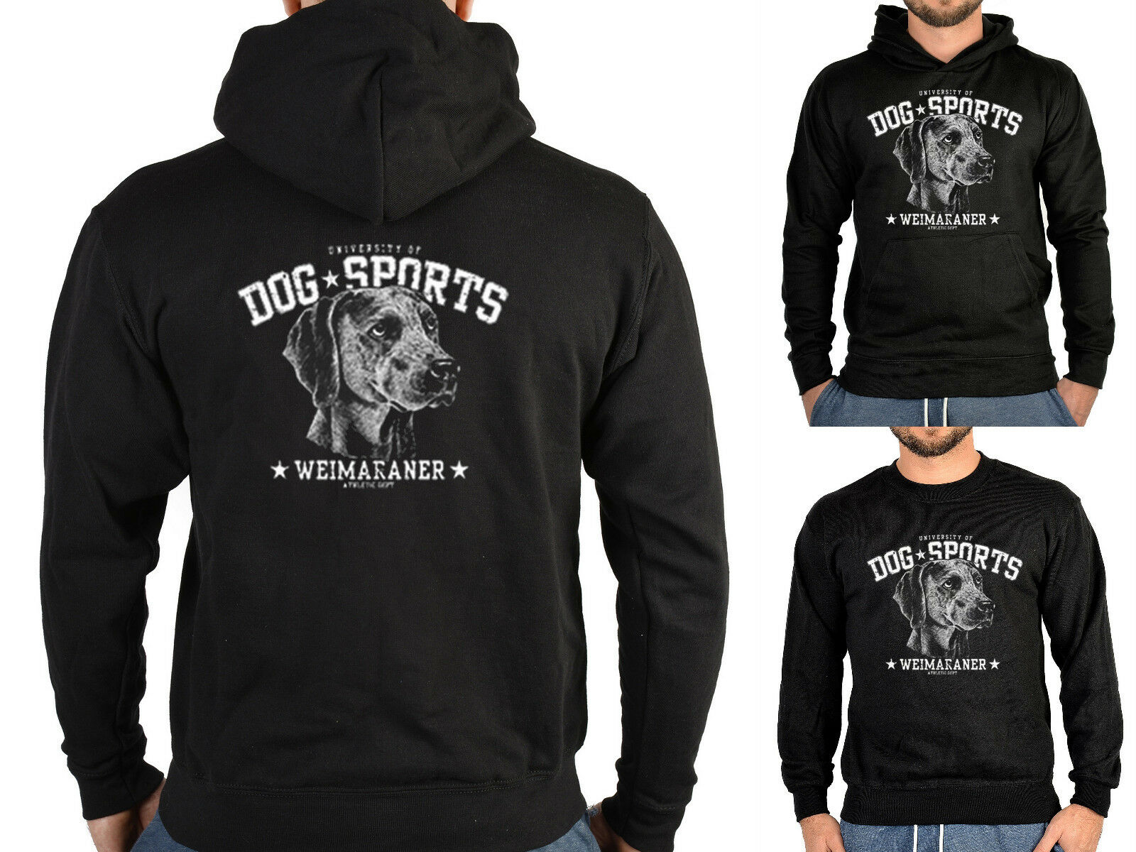 Weimaraner Sweater - Kapuzensweater - Zip Hoodie Hunderassen Hunde Jagdhund
