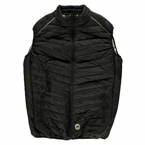 D555 Homme Stevie rembourré veste sans manches légère Quilt Veste sans manches légère Zip complet